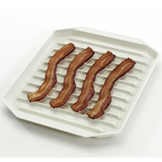 Compact Microwave Bacon Tray