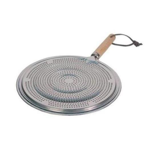 Tinned Steel Heat Diffuser with Wood Handle