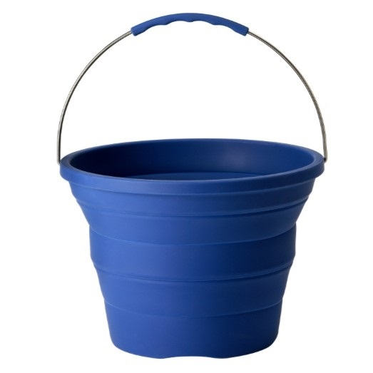 Blue Collapsible Bucket