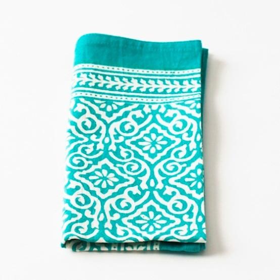 Jaipur Aqua Cotton Napkin