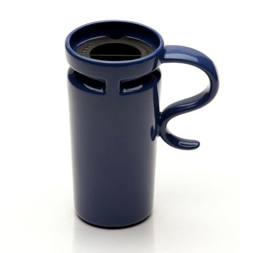 18 oz Slim Ocean Blue Ceramic Travel Mug