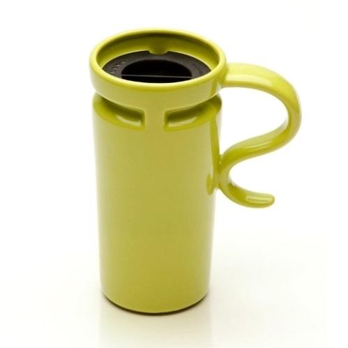 18 oz Slim Kiwi Ceramic Travel Mug