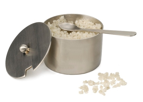 2 oz Stainless Steel Salt Cellar with Spoon