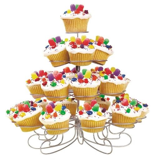 Silver Cupcake Stand – Holds 23 Cupcakes