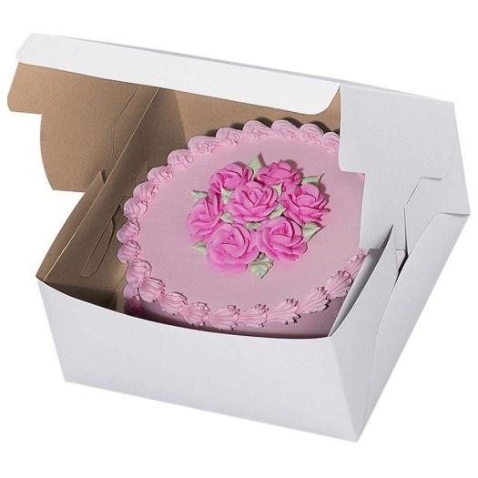 10″ x 10″ x 5″ White Cake Box