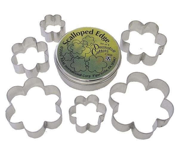 6-Piece Flower Cookie Cutter Set