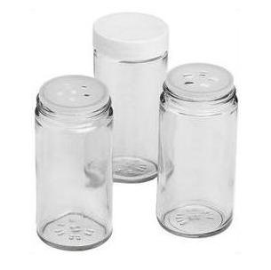 3 oz Glass Spice Bottle with Lid and Shaker