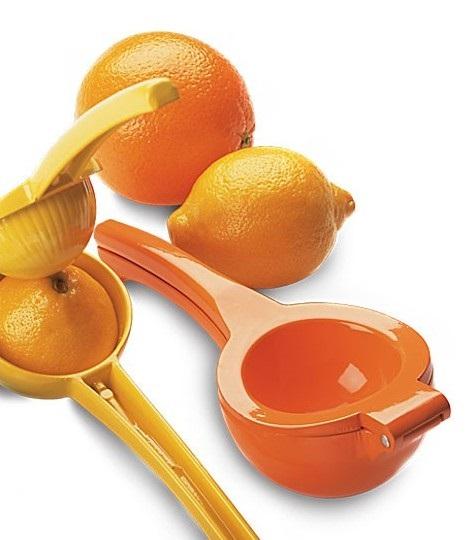 Enameled Bright Orange Orange Squeezer