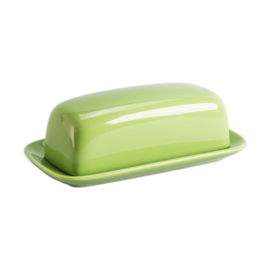 Green Ceramic Butter Dish
