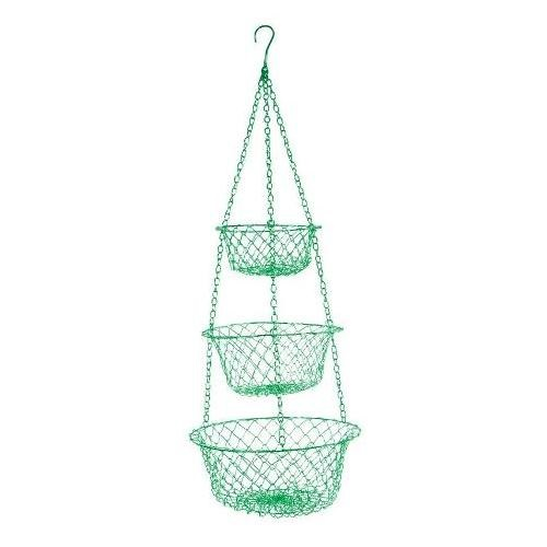 Green Three Tier Hanging Basket