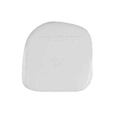 Small White Plastic Pan Scraper
