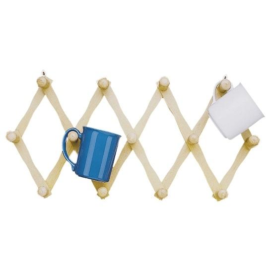 Expandable Wooden Mug Rack