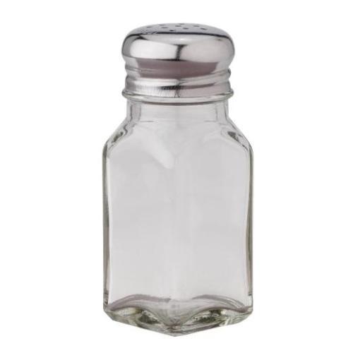 Square Glass Salt or Pepper Shaker