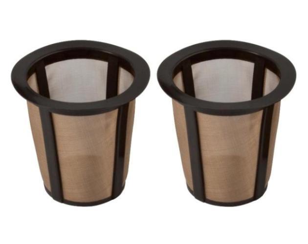 Keurig-Type Gold Tone Filter Cups For Filter Holder