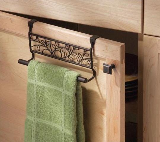 9″ Over Cabinet Bronze Twigz Towel Bar