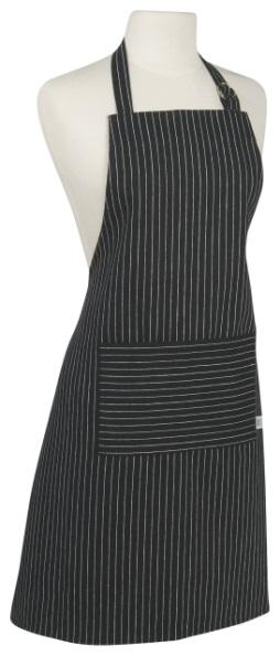 Black Pinstripe Apron