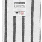 Black Basketweave Stripe Towel
