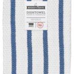 Blue Basketweave Stripe Towel