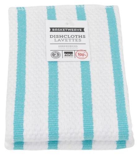 Set of 2 Bali Basketweave Stripe Dishcloths
