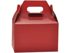 8″ x 4.875″ x 5.25″ Red Gable Candy Box
