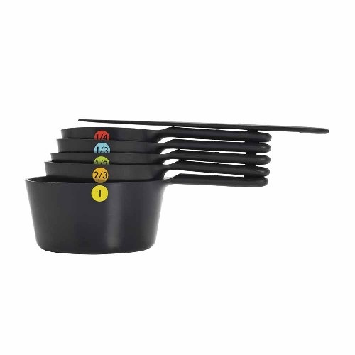 Oxo 6-Piece Black Measuring Cup Set