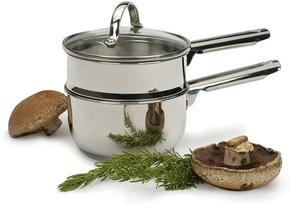 1 Quart Stainless Steel Double Boiler with Tri-Ply Base