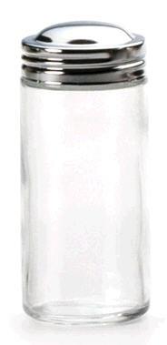 3oz Glass Spice Jar with Chrome Top