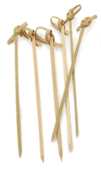 Knotted Bamboo Cocktail Picks S/50