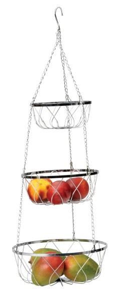 Three Tier Elegant Metal Hanging Basket