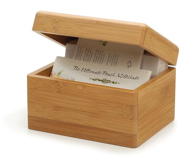 4″ x 6″ Bamboo Recipe Box