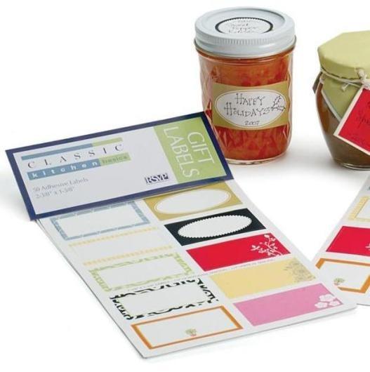 Rectangular Blank Jar Labels Pack of 50