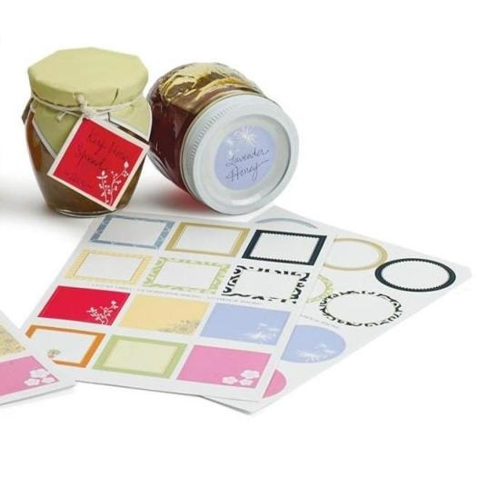 Assorted Round & Square Blank Jar Labels Pack of 48