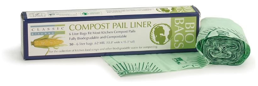 Biodegradable Compost Bucket Liners Pack of 50