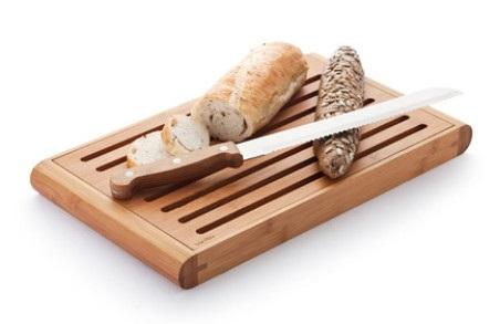 Elegant Bamboo Crumb Box