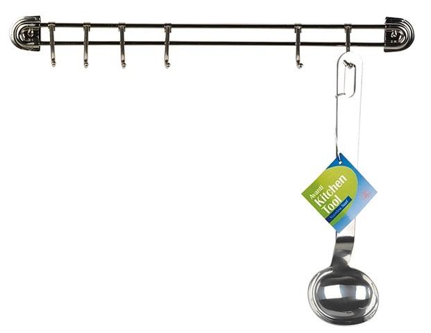 Stainless 6 Hook Utensil Rack