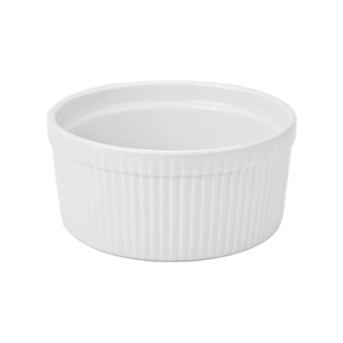 1 Quart Ceramic White Souffle