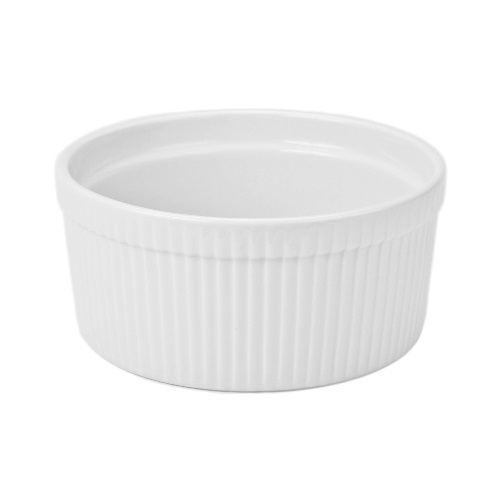 1.5 Quart White Ceramic Souffle