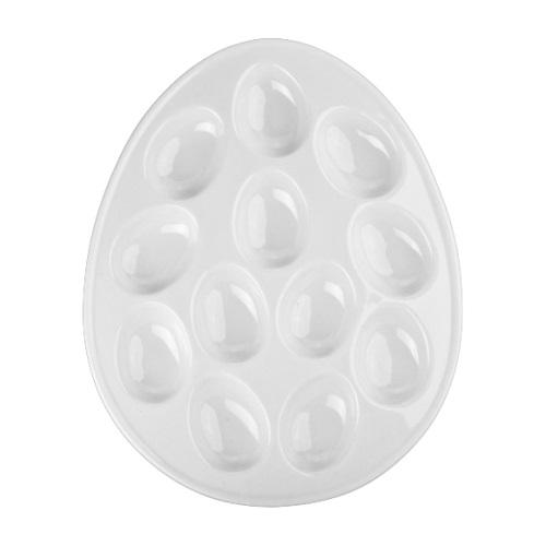 Egg-Shaped Deviled Egg Plate – Holds 12