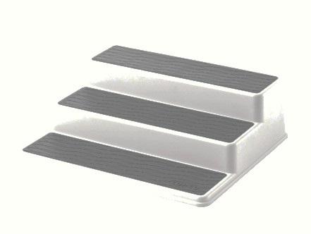 White Plastic Stairstep Spice Rack