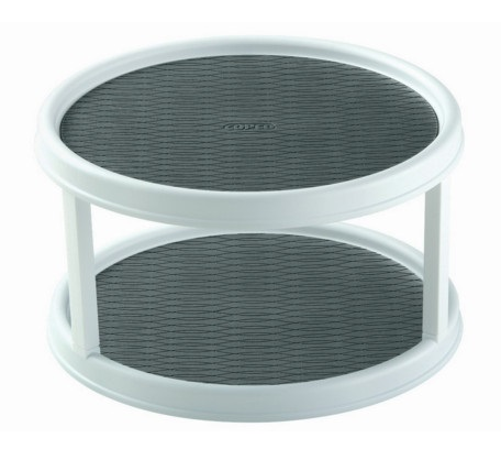 Two Tier White Plastic Turntable