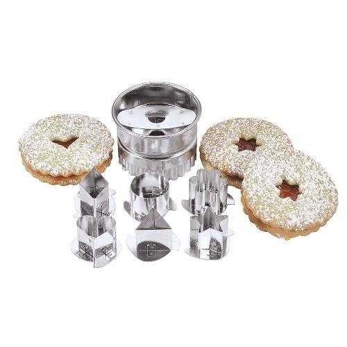 Interchangeable Linzertorte Cookie Cutter Set Set of 6
