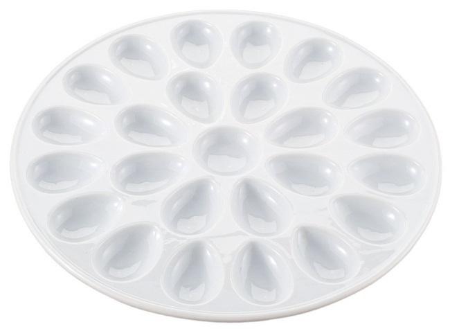Ceramic Deviled Egg Plate – Holds 24
