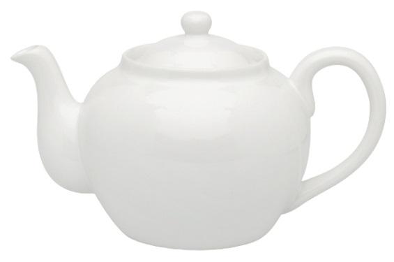 6 Cup White Teapot