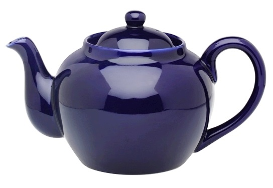 6 Cup Cobalt Blue Teapot