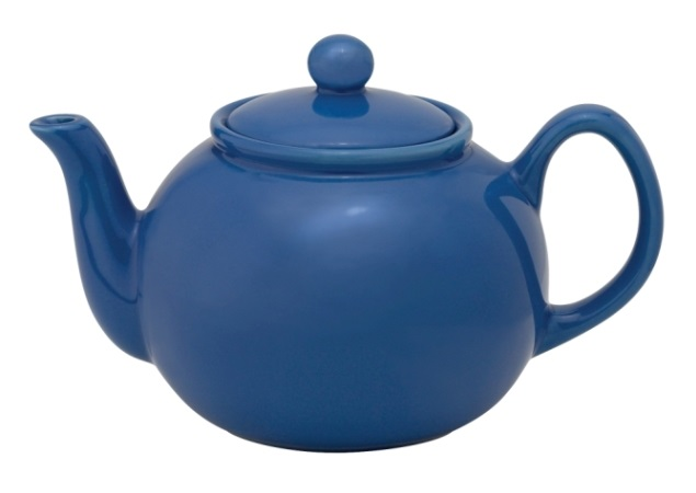 6 Cup Bayberry Blue Teapot