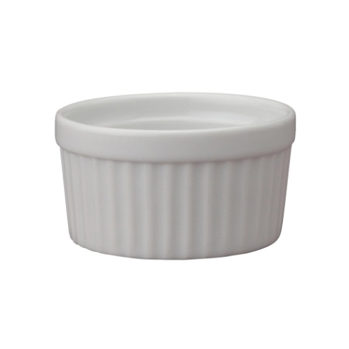3 oz White Ceramic Ramekin