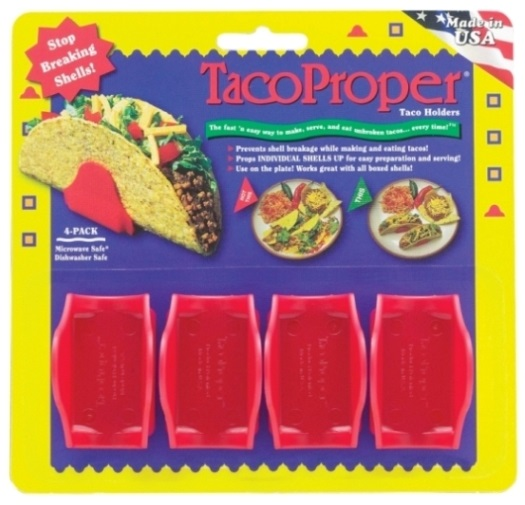 Red Plastic Taco Holders Set of 4