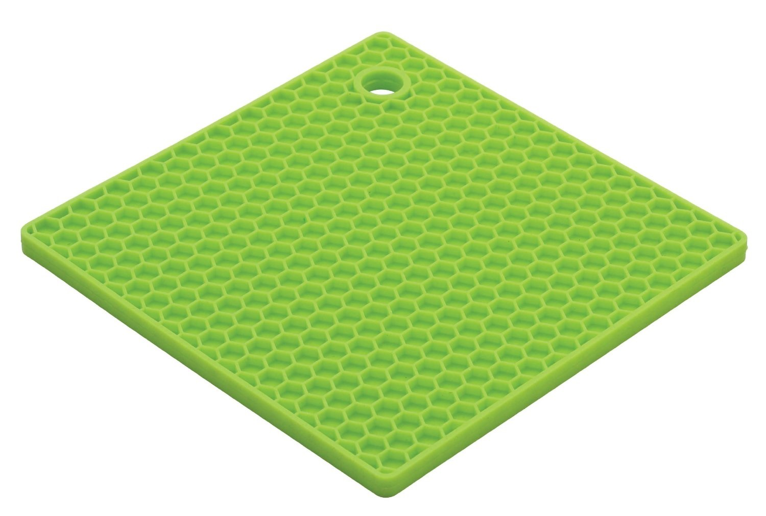 Lime Green Square Silicone Potholder