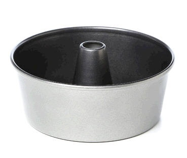 16 Cup Cast Aluminum Nonstick Solid Bottom Angelfood Cake Pan