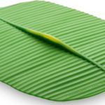 Rectangular 10″ x 13″ Banana Leaf Silicone Lid